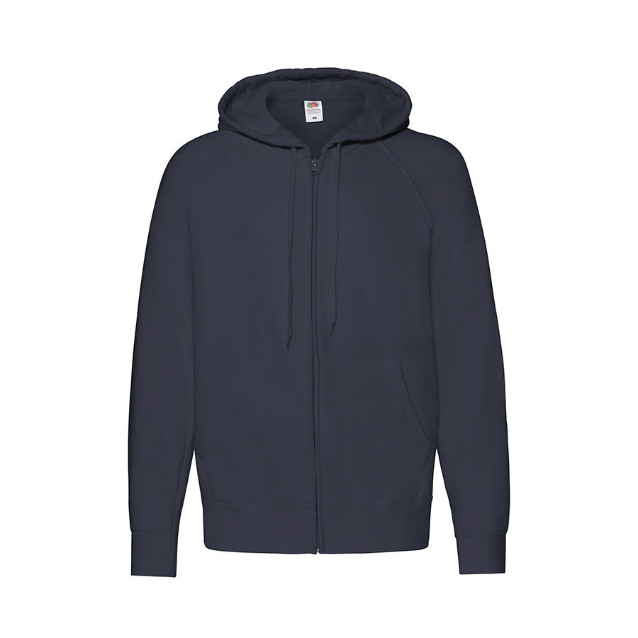 "Толстовка без начеса ""Lightweight Hooded Sweat"",  белый, M, 80% х/б 20% полиэстер, 240 г/м2"